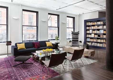 two rugs in one room mercer loft dhd architecture interior design