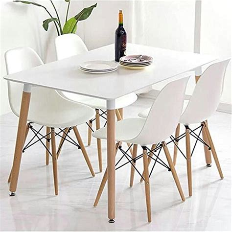 Office Kitchen Table And Chairs Crazygadget 174 Charles Eames Inspired Eiffel Dsw Retro Design Wood Style Chairs And Table