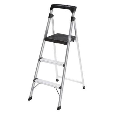 step stool for to reach 3 step aluminum ultra light step stool ladder with 225 lb