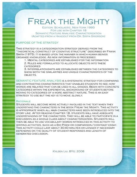 freak the mighty book report all worksheets 187 freak the mighty vocabulary worksheets