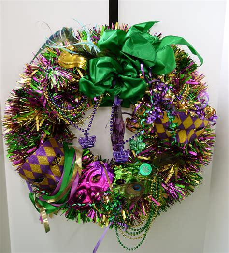 mardi gras bead wreath make a mardi gras wreath celebrate decorate