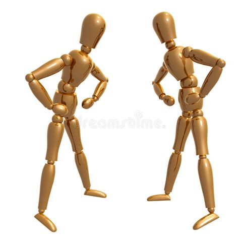 figure doll dummy figure doll confronting pose royalty free stock