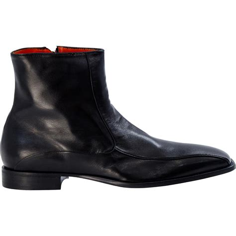wayne black nappa leather square toe boots paolo shoes