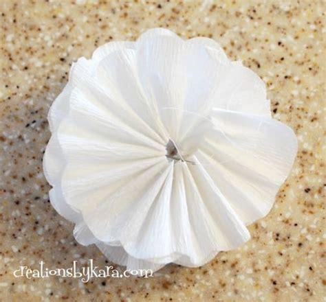 white paper flower tutorial crepe paper flower tutorial