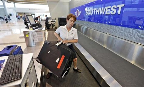 southwest airlines baggage policy baggage back up southwest s free bag policy could be