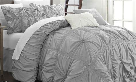 pinch pleat comforter halperina comforter set 6pc groupon goods
