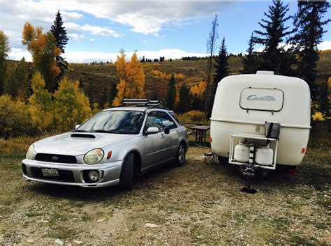 subaru wrx trailer towing a 13 casita travel trailer with a 2002 suburu wrx