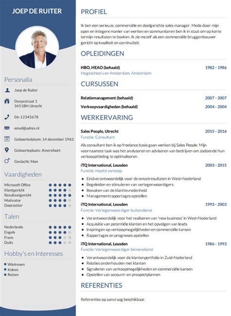 cv layout nederlands voorbeeld cv nl holandia praca pinterest cv en studie