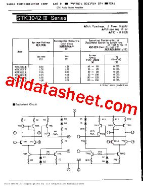 stk3082 datasheet pdf sanyo semicon device