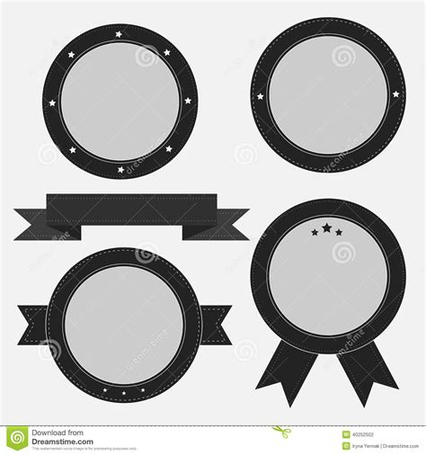 best photos of blue circle badge template badge vector