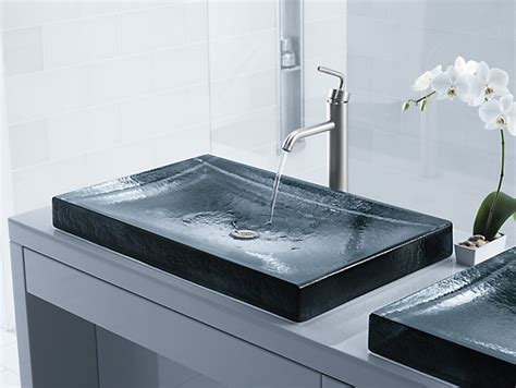 kohler wading pool sink k 2369 antilia wading pool glass sink kohler