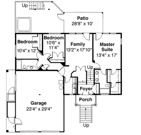 tri level floor plans tri level house plan with loft overlook 72197da