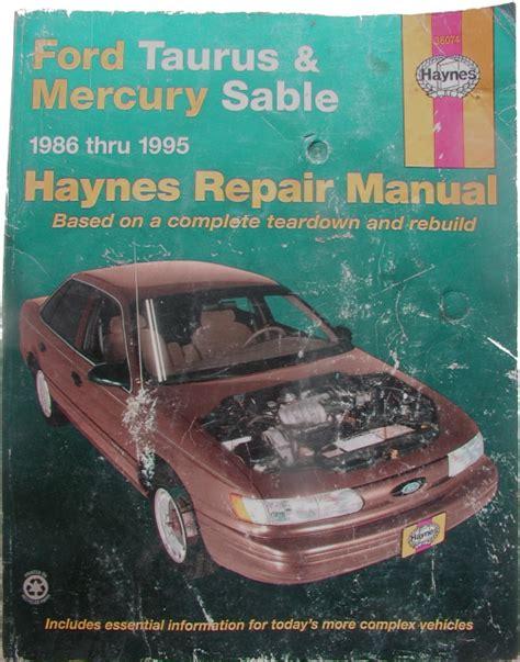 haynes ford taurus mercury sable 1986 1995 all models repair manual 1421 for sale paul s deals books