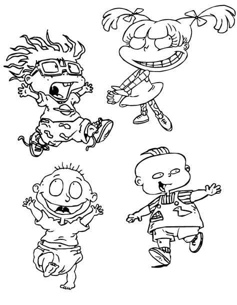 rugrats coloring pages free printable rugrats coloring pages for