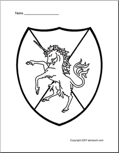 coloring pages knights shields all shields colouring pages