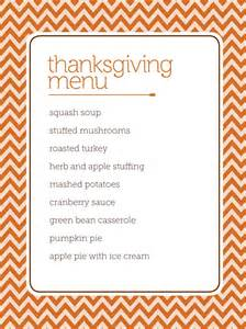 thanksgiving template word customizable thanksgiving menus hgtv