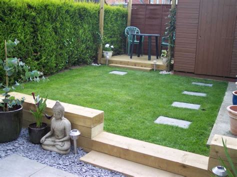 Garden Designs With Sleepers by Railway Sleepers