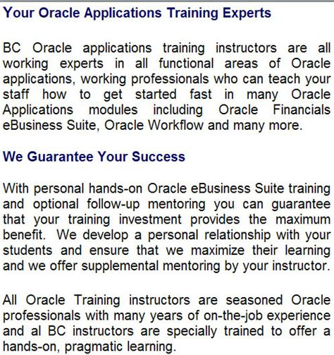 tutorial oracle class oracle applications training