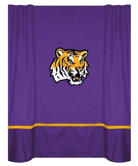 lsu shower curtain kids bathroom decor lsu fighting tigers shower curtain