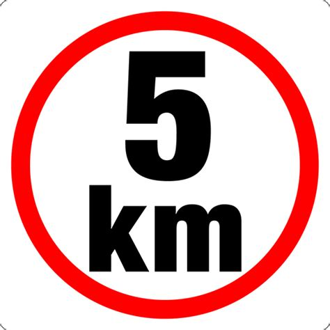 From To 5km 5 km sign parking road signs markit graphics