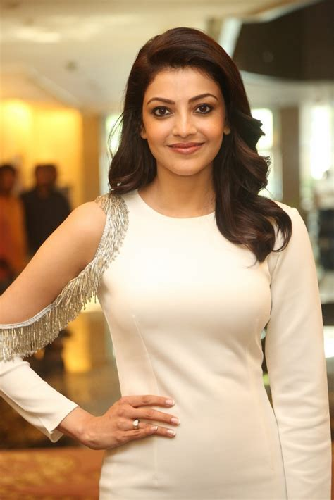 Actress Kajal Aggarwal at MLA Success Meet Stills   Lovely