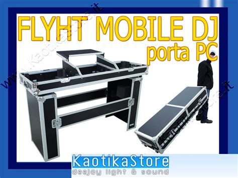 mobile per consolle dj flightcase mobile dj valigia trasporto pc notebook