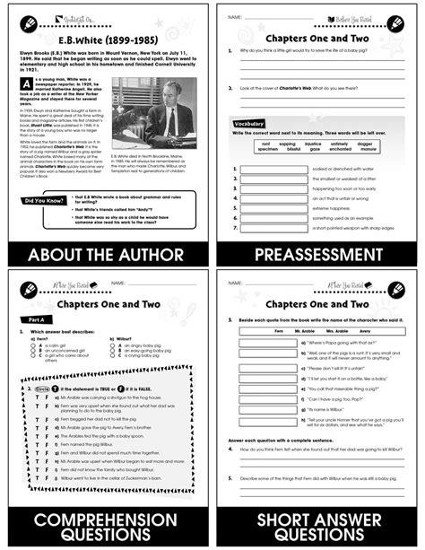 Charlottes Web - Novel Study Guide - Grades 3 to 4 - Print