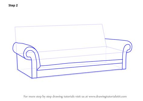 how to draw a couch easy learn how to draw sofa furniture step by step drawing