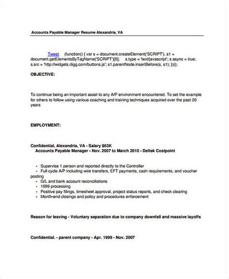 Excellent Account Manager Resume Sle