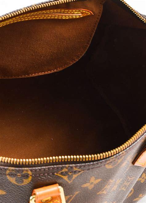 louis vuitton louis vuitton brown coated canvas leather