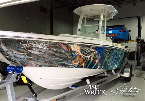 sailfish boat wraps boat wraps fishwreck fishing apparel and boat wraps