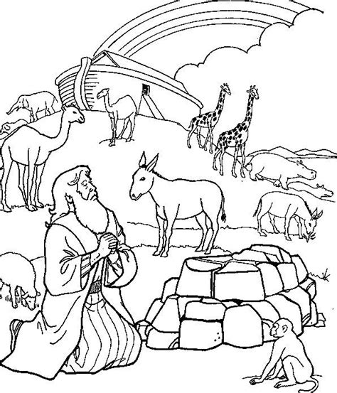 noah s ark colouring page free printable homeschool