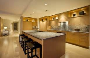 Kitchen Design Lighting by Bamboo Floor For Contemporary Kitchen Lighting Design