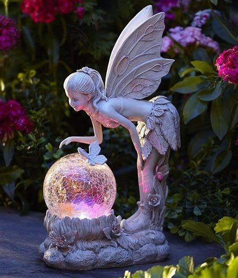 statue with solar light solar light globe statue color changing garden
