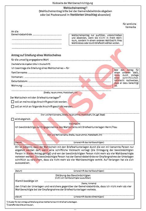 Antrag Briefwahl Nrw Wie Wird Der Deutsche Bundestag Gew 228 Hlt
