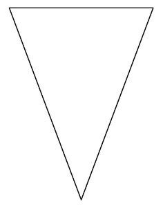 pennant pattern   printable outline  crafts