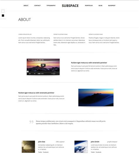 html5 template file subspace portfolio html5 template by equiet themeforest