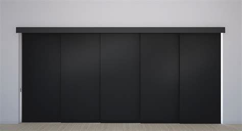 panel track shades for patio doors panel track vinyl blackout blinds