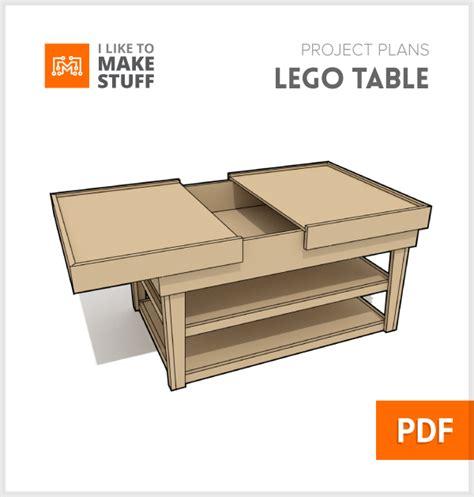 Lego Build Table Digital Plan I Like To Stuff