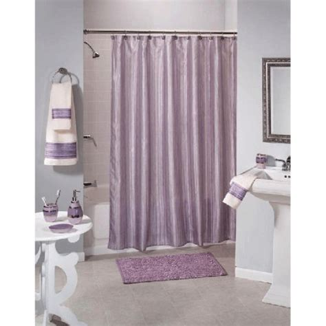 purple fabric shower curtain shimmer stripes purple fabric shower curtain
