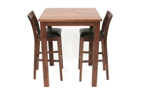Breakfast Bar Table And Stools 2 Java Solid Brown American Walnut Bar Stools