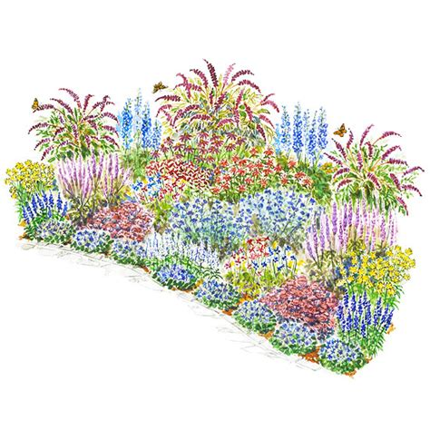 Flower Garden Layout Plans Beautiful Butterflies Garden Plan