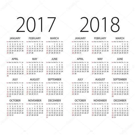Calendrier 2018 Vector R 233 Sum 233 2017 Et Calendrier 2018 Vector Avec Dimanche Le