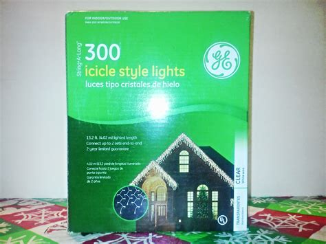 ge 300 icicle lights clear ge 300 string a long icicle style lights christmas winter