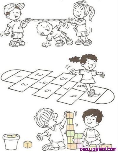dibujos niños jugando para imprimir jugando juego colorear cake ideas and designs