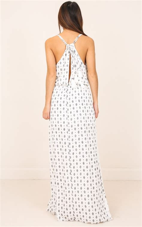 Me Its You Dress maybe its me maxi dress in white print showpo
