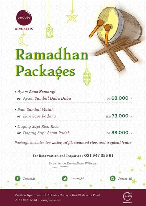 Paket Bersih Di Bulan Ramadhan qravedbuburit 10 restoran dengan promo ramadhan mantap di jakarta