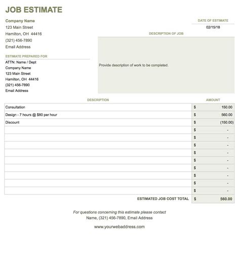 Free Google Docs Invoice Templates Smartsheet Quote Template Docs