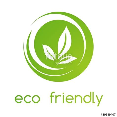 eco friendly quot leaves green eco friendly business logo design quot stock