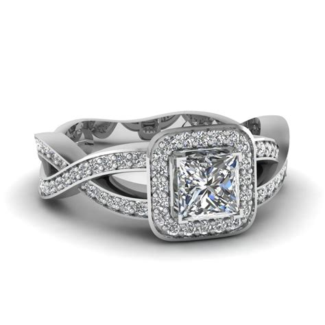 shop for twist swirl engagement rings at